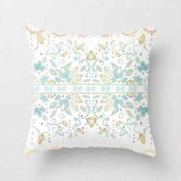 Boho floral Throw Pillow