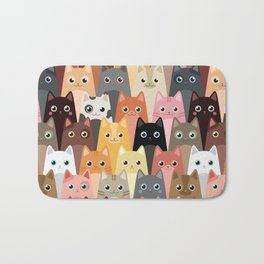 Cats Pattern Bath Mat
