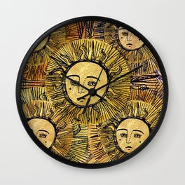 Soli splendent Wall Clock