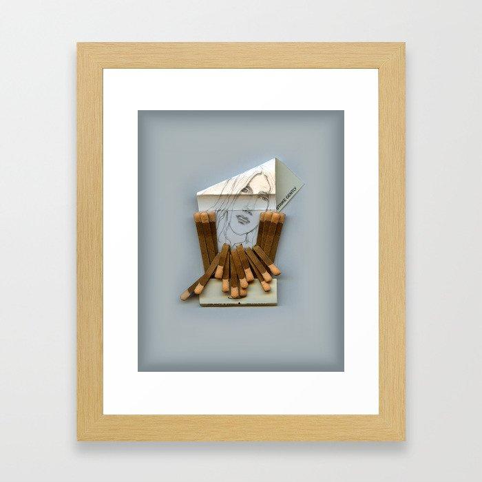 Strike Gently Framed Art Print