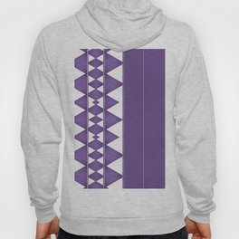 Purple Diamond Stripe Pattern Hoody