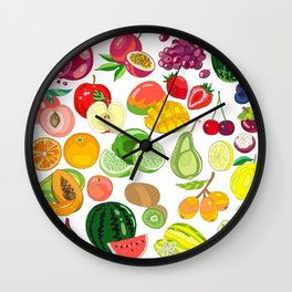 Fruits Paradise Wall Clock