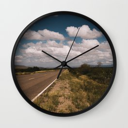 Southwest Desert Highway Wall Clock