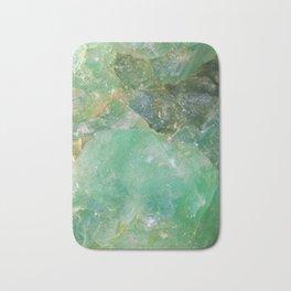 Absinthe Green Quartz Crystal Bath Mat