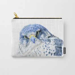 """""""Here's Looking At You"""" painting of a Gyrfalcon by Teresa Thompson Carry-All Pouch"""