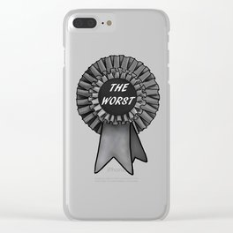 THE WORST Rosette Clear iPhone Case