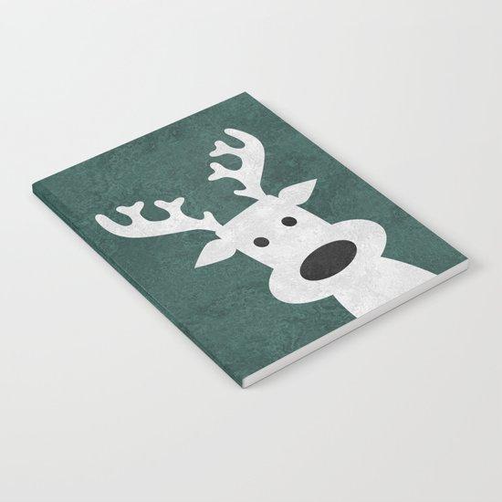 Christmas reindeer marble Notebook