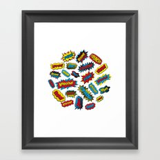 Super Words! Framed Art Print