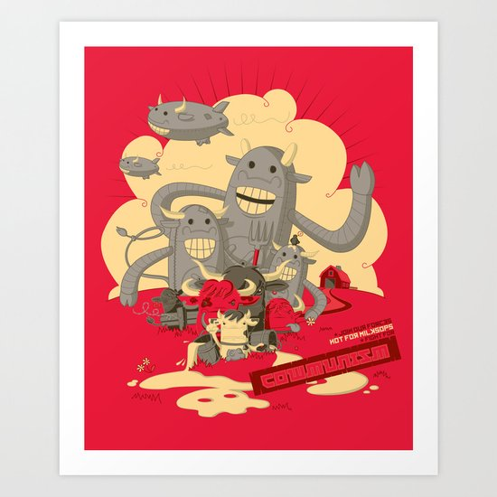 Cowmunism Art Print