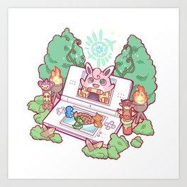 Pocket Monster V4 - The Fairy Debut Art Print