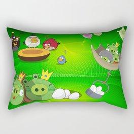 Angry Birds Cartoon Mix Rectangular Pillow