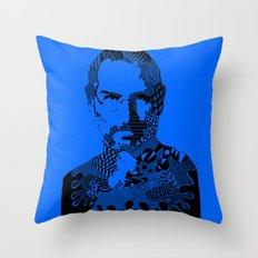 Steve Jobs blue Throw Pillow