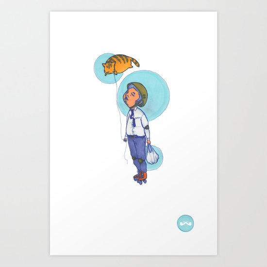 Topaz Dreaming. Art Print