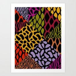 Animal Patterns – Geo-Style Art Print