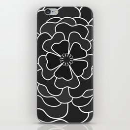 Grey abstract flower #abstractflower iPhone Skin