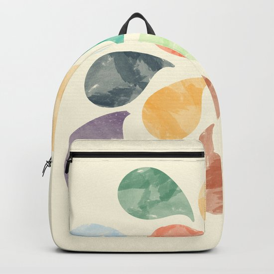 Colorful Water Drops (Watercolor version) Backpack