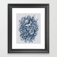 Mermaid Skull 2 Framed Art Print