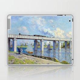 Claude Monet - Railway Bridge Laptop & iPad Skin