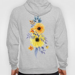 FLOWERS WATERCOLOR 10 Hoody