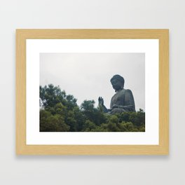 Tian Tan Buddha. Framed Art Print