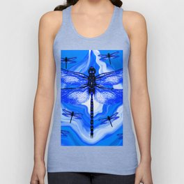 DRAGONFLY BLUE AGATE Unisex Tank Top
