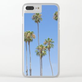 Palm Trees and Blue SKy Clear iPhone Case