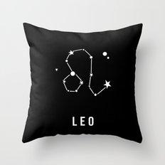 Leo Zodiac Sign Quote Throw Pillow