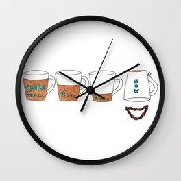 Coffee makes me smile Wall Clock