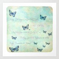 butterflies Art Prints featuring Butterflies by secretgardenphotography [Nicola]