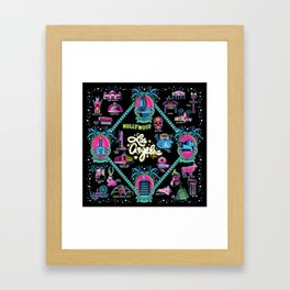 Welcome to Los Angeles! Framed Art Print