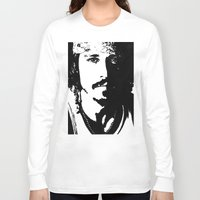 johnny depp Long Sleeve T-shirts featuring Johnny Depp by Jeanique van den Berg