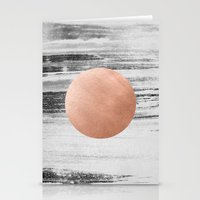 rose gold Stationery Cards featuring rose gold #1 by LEEMO
