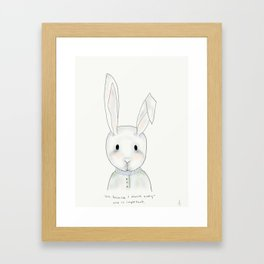penny rabbit Framed Art Print