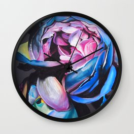 Rose chalk drawing Wall Clock