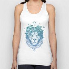 Floral lion Unisex Tank Top