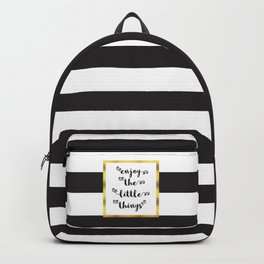 The Little Things Quote Backpack