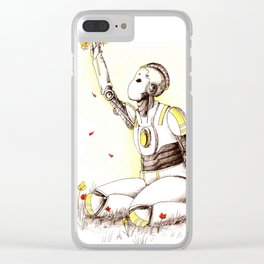 Robot 1 Clear iPhone Case
