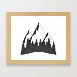 Mountain Forest Framed Art Print