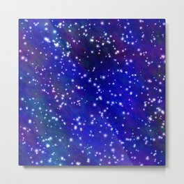 Stars in the Navy Blue Sky Metal Print
