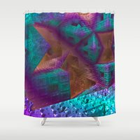 be brave Shower Curtains featuring Brave by Fractalinear
