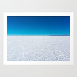 Salt Flats, Salar de Uyuni, Bolivia Art Print