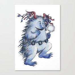 Little carnival monster Canvas Print