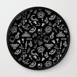 Modern Witch - Black Wall Clock