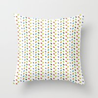 gameboy Throw Pillows featuring GAMEBOY COLOR  by soycocon