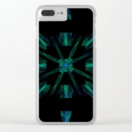 Alien Barcode Clear iPhone Case