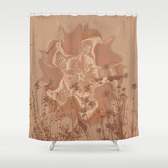 Drought Sunrise Shower Curtain