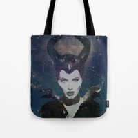 maleficent Tote Bags featuring Maleficent by Esco
