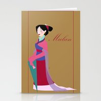 mulan Stationery Cards featuring Mulan by Fraopic