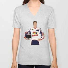 Ricky Bobby Talladega Nights movie ilustration Unisex V-Neck