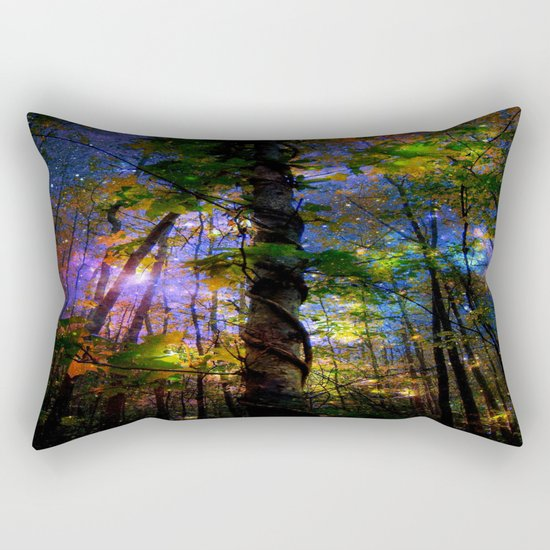 Forest of the Fairies Night Rectangular Pillow